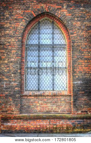 View Of An Old Window To Church