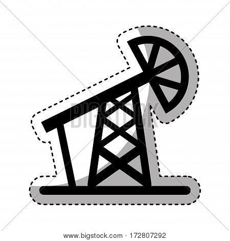 refinery plant tower icon vector illustration design