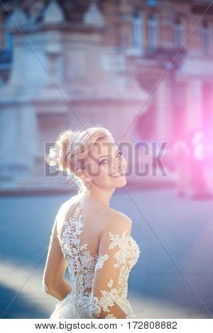 Happy Pretty Girl Or Cute Bride