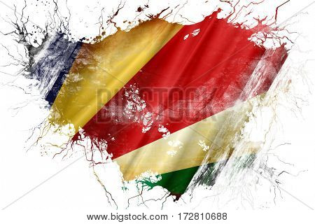 Grunge old seychelles  flag