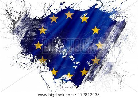 Grunge old European union  flag