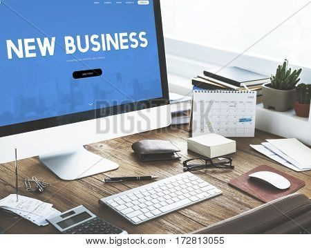 New Business Financial Enterprise Word