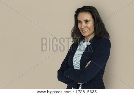 Businesswoman Smiling Happiness Portrait