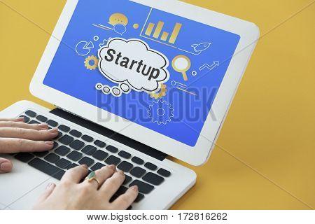 Business Startup Illustration Cog Icon