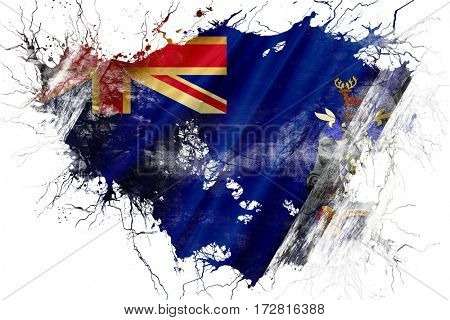 Grunge old South georgie and the sandwich islands flag