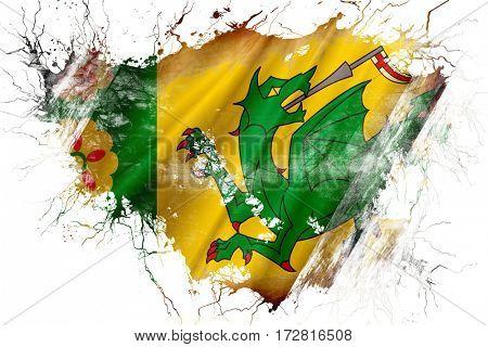 Grunge old Evenley flag
