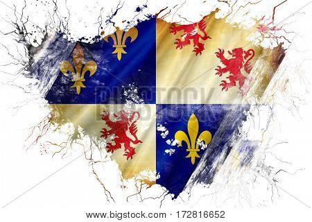 Grunge old Picardie flag