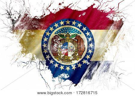 Grunge old missouri flag