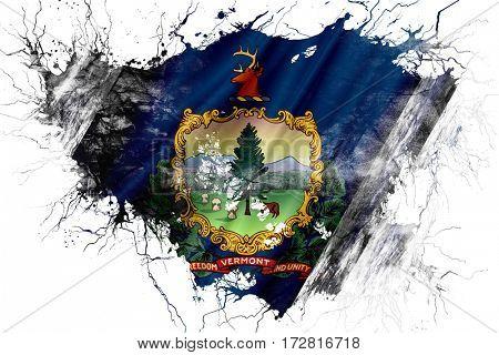 Grunge old vermont flag