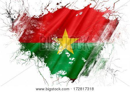 Grunge old Burkina Faso  flag