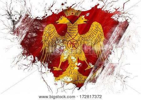 Grunge old Byzatine eagle flag