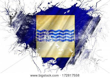 Grunge old Basilicata flag
