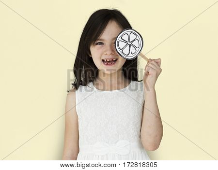 Little Girl Smiling Lolipop Shoot