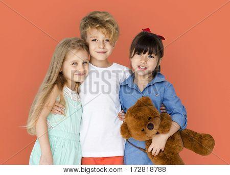 Little Children Happy Smiling Together