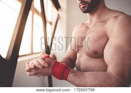 Handsome Muscled Man