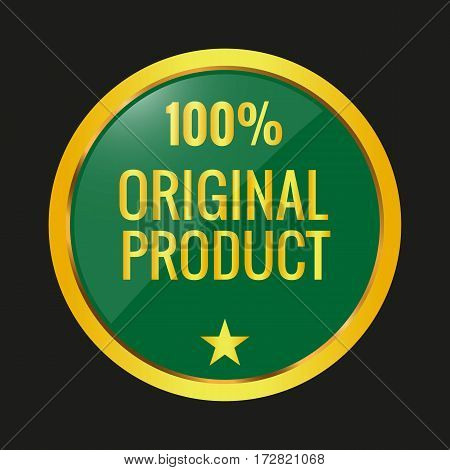 Original Product Label On Black Background.
