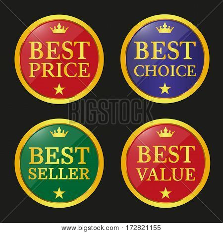 Collection Of Sale Badges And Labels.