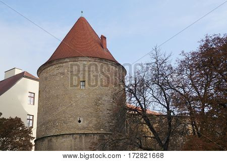 Kaptol turret in Zagreb capital of Croatia
