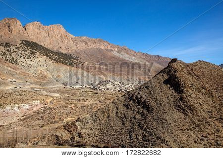 Small village  in the High Atlas Mountains  in Morocco.