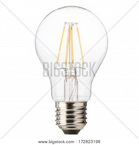Filament Led Bulb Isolated On White Background. Led Light Bulb. Led Light. Clipping Path