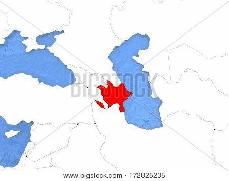 Azerbaijan On Globe