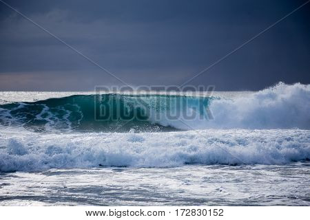 Sea Storm With Large Waves