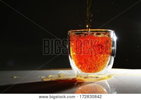 hot tea / Tea is an aromatic beverage commonly prepared by pouring hot or boiling water over cured leaves