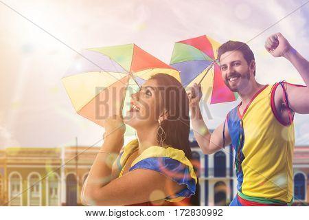 Couple dancing Frevo in Brazil