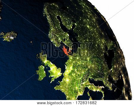 Denmark From Space