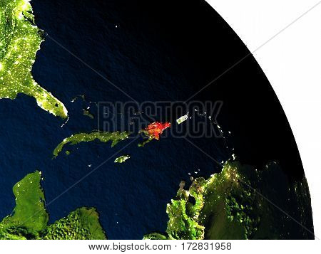 Dominican Republic From Space