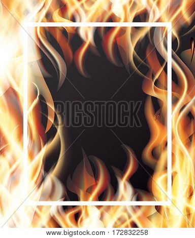 Fire and White Frame.
