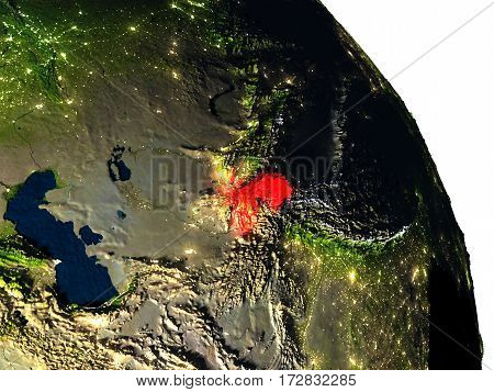 Tajikistan From Space