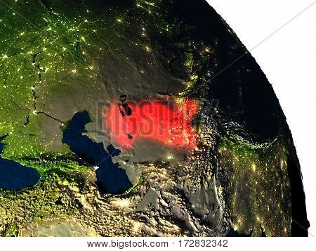 Uzbekistan From Space