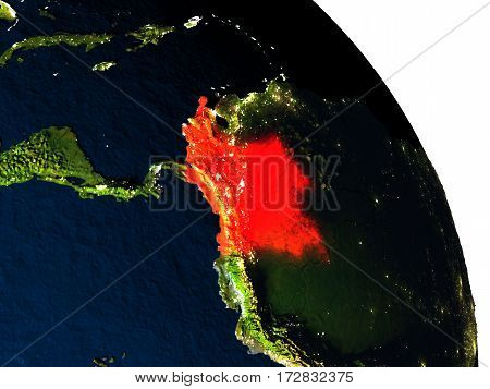 Colombia From Space