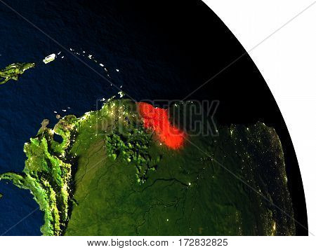Guyana From Space
