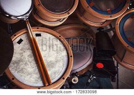 Set Of Wooden Drums