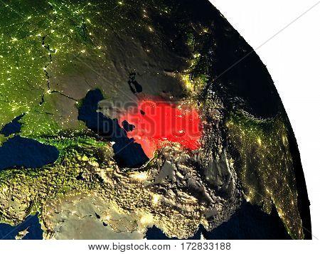 Turkmenistan From Space