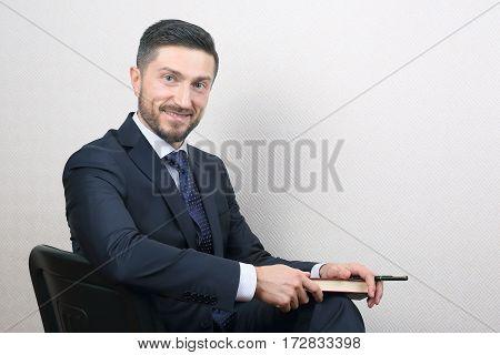 portrait of successful business man in a suit