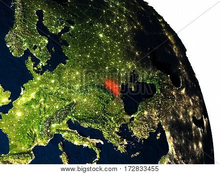 Moldova From Space