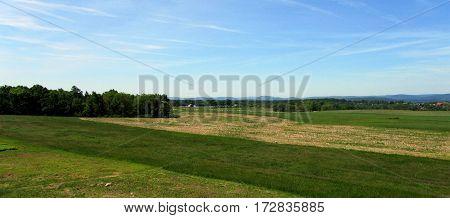 Getysburg Battlefield National Military Park Arial Elevated View, Getysburg Pennsylvania