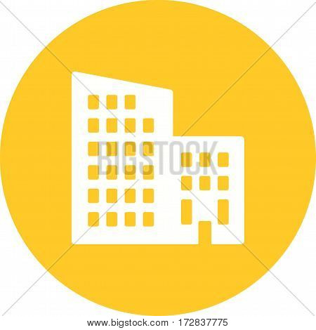 Apartments, home, exterior icon vector image. Can also be used for town. Suitable for mobile apps, web apps and print media.