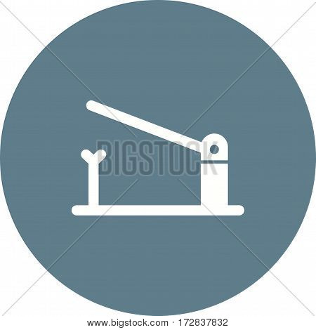 Barrier, sign, post icon vector image. Can also be used for town. Suitable for mobile apps, web apps and print media.