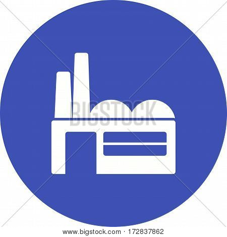 Factory, building, plant icon vector image. Can also be used for town. Suitable for mobile apps, web apps and print media.