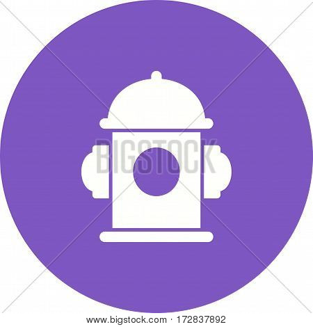 Hydrant, fire, red icon vector image. Can also be used for town. Suitable for mobile apps, web apps and print media.