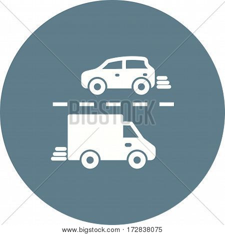 Traffic, city, rush icon vector image. Can also be used for town. Suitable for use on web apps, mobile apps and print media.