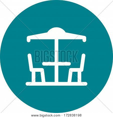 Cafe, outdoor, town icon vector image. Can also be used for town. Suitable for web apps, mobile apps and print media.