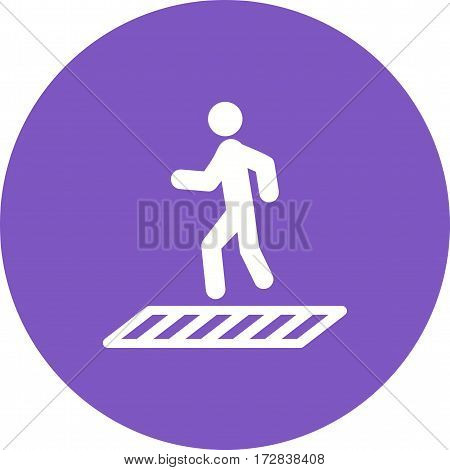People, crossing, zebra icon vector image. Can also be used for town. Suitable for mobile apps, web apps and print media.