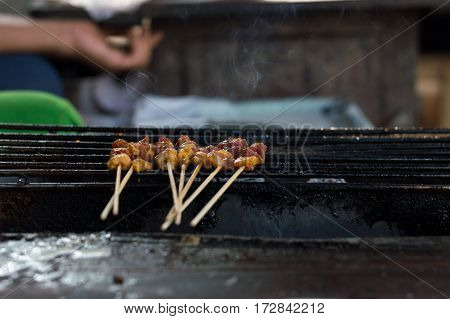 Beef Satay Food Must Taste When Visiting Chiang Mai, Thailand.