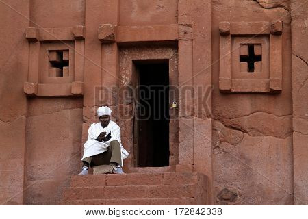 The rock carvings of Lalibela in Ethiopia