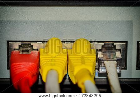 Many type cable and connectors switch lan